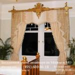 Классические шторы с ламбрекеном для спальни заказать