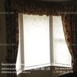 Рулонные жалюзи для окон ПВХ с классическими шторами