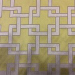 Портьерная атласная ткань с геометрическим рисунком в современном стиле