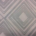 Тюлевая прозрачная органза с геометрическим рисунком в современном стиле