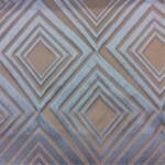 Портьерная атласная ткань с рельефным геометрическим рисунком