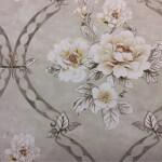Красивая портьерная ткань из хлопка с нежным цветочным орнаментом