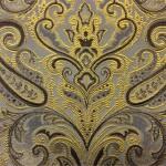 Портьерная жаккардовая ткань с рисунком «дамаск» золотистая
