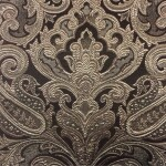 Портьерная жаккардовая ткань с рисунком «дамаск» шоколад