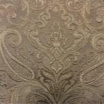 Портьерная жаккардовая ткань с рисунком «дамаск» бежевая