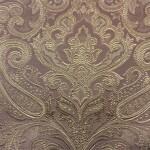 Портьерная жаккардовая ткань с рисунком «дамаск» розовая