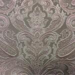 Портьерная жаккардовая ткань с рисунком «дамаск» серо-табачный оттенок