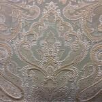 Портьерная жаккардовая ткань с рисунком «дамаск» золотисто-зеленый оттенок